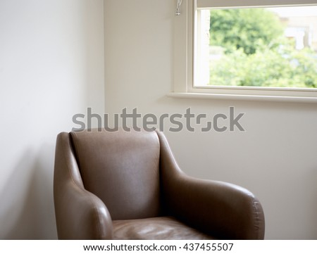 Interior design of room with chair - stock photo
