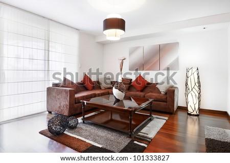 Interior design series: living room - stock photo