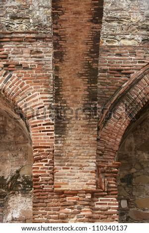 Interior detail of Santo Domingo church, Panama city, Panama,  Central America - stock photo