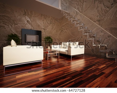 Interior drawing room - stock photo