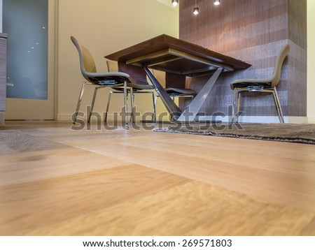 Interior floor and furniture - stock photo
