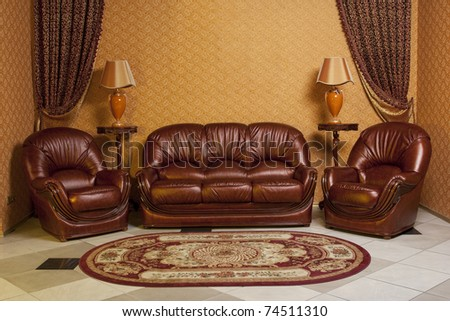 interior furniture sofa and two chairs. see more on my page - stock photo