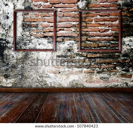 Interior grunge room. - stock photo