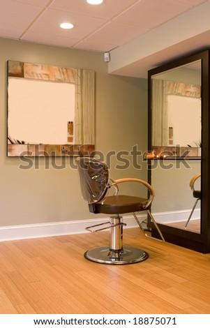 Interior Hair And Beauty Salon - stock photo