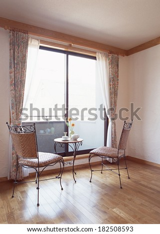 interior home, room with chair - stock photo