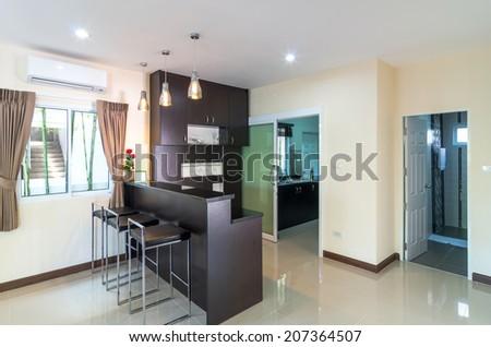 Interior living room of the Living hill sriracha-bowin - stock photo