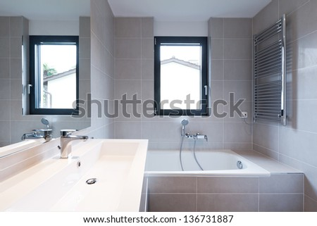interior modern empty flat, apartment nobody inside - stock photo