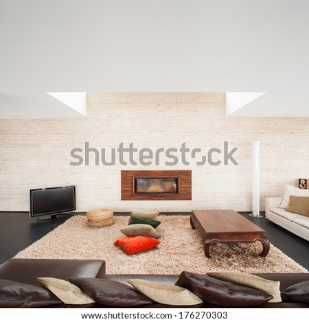 interior modern house - stock photo