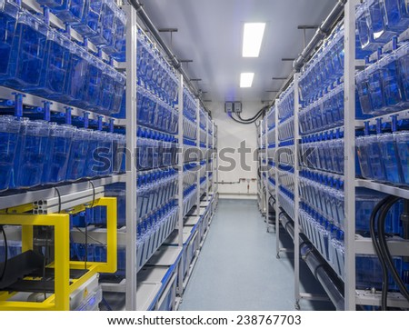 Interior of a biological research laboratory - stock photo