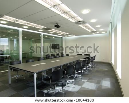 interior of a boardroom - stock photo