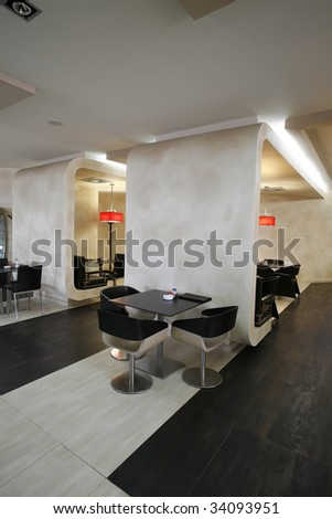 interior of a cafe bar - stock photo