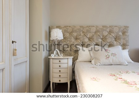 Interior of a classic styled bedroom - stock photo
