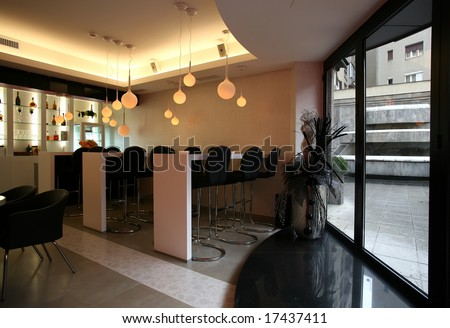 interior of a coffee bar - stock photo