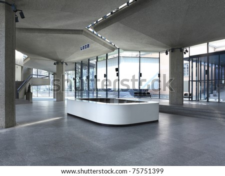 Interior of a Congress Palace, hall - stock photo