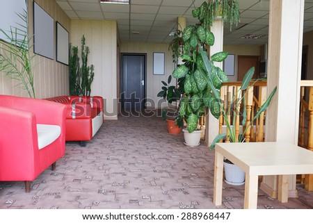 Interior of a corridor of hotel  - stock photo
