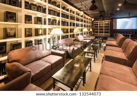 Interior of a hotel restaurant. - stock photo
