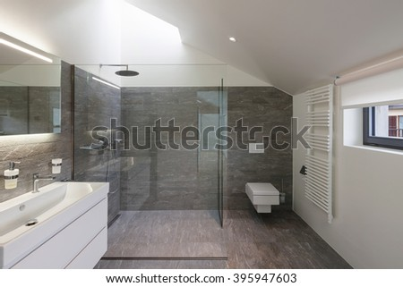 Interior of a house, bathroom modern design - stock photo
