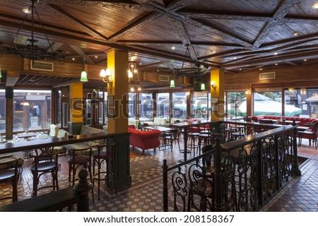 Interior of a Irish pub - stock photo