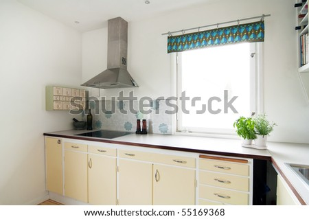 interior of a kitchen - stock photo