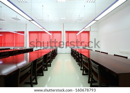 Interior of a library -Reading Room - stock photo
