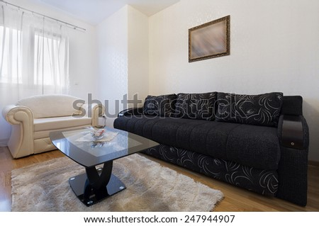 Interior of a living room - stock photo
