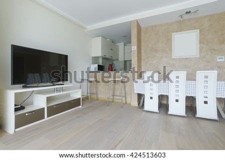 Interior of a living room and a drawing room in a guest house  - stock photo