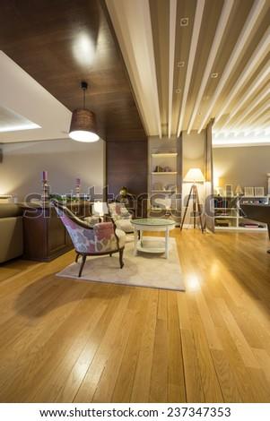 Interior of a luxury apartment - stock photo