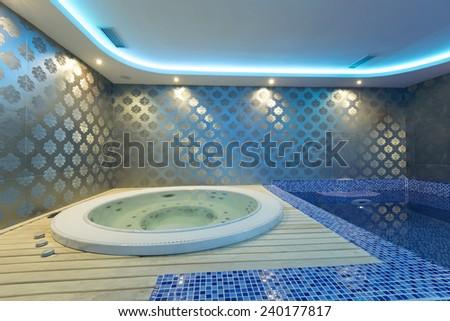 Interior of a luxury spa center  - stock photo
