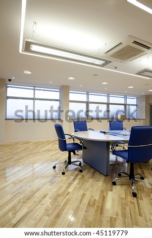 interior of a meting room - stock photo