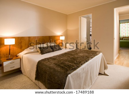 interior of a modern apartment - stock photo