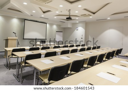 Interior of a modern conference hall  - stock photo