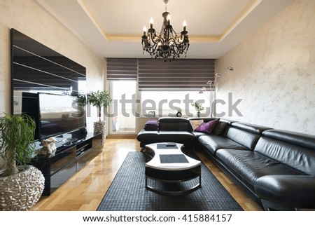 Interior of a modern living room - stock photo