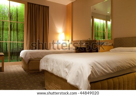 Interior of a modern luxury hotel room - stock photo