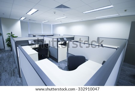 Interior of a modern office - stock photo