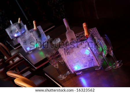 interior of a night club - stock photo
