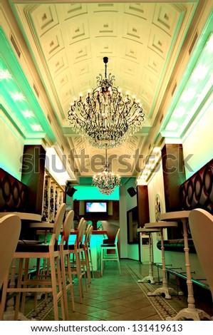 interior of a nightclub - stock photo
