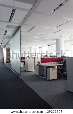 Interior of a office, places to work - stock photo