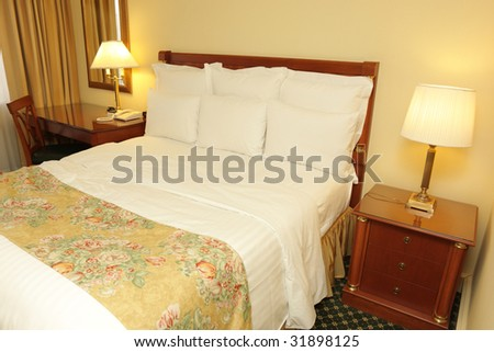 Interior of a room in hotel, Armenia - stock photo