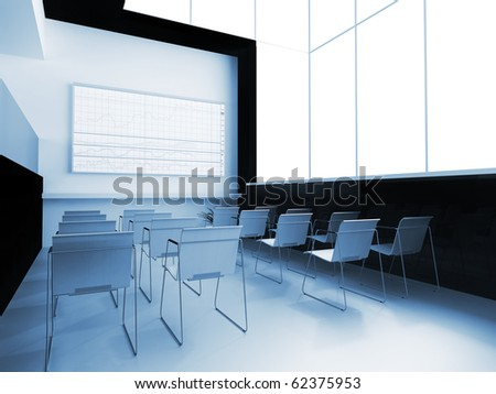 Interior of a school audience for employment - stock photo
