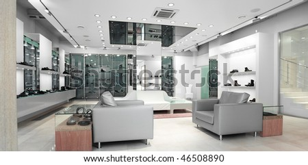 interior of a shop - stock photo