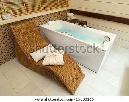 interior of a spa center - stock photo