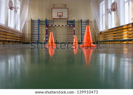 Interior of a sports  field - stock photo