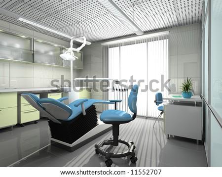 Interior of a stomatologic cabinet - stock photo