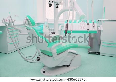 Interior of a stomatologist's office - stock photo
