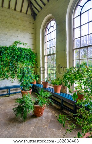 Interior of a traditional English Orangery or Summerhouse  - stock photo