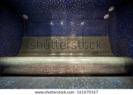 Interior of a Turkish steam bath  - stock photo