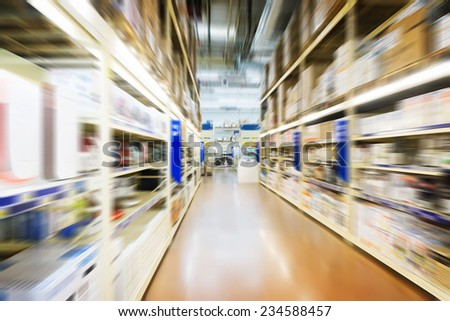 interior of a warehouse  - stock photo