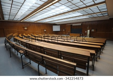 Interior of an auditorium at a university - stock photo