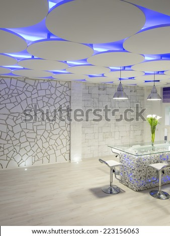 Interior of business space hall - stock photo