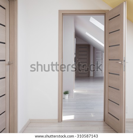 Interior of detached house in traditional style - stock photo